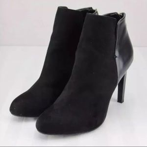 Zara Trafaluc Suede Ankle Booties Back Zip Sz 39